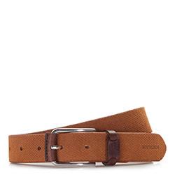 Men's belt, light brown, 86-8M-319-5-12, Photo 1