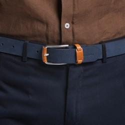 Men's belt, navy blue, 86-8M-319-7-11, Photo 1