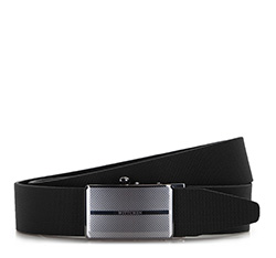 Men's belt, black, 86-8M-320-1-12, Photo 1