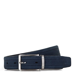 Men's belt, navy blue, 86-8M-322-7-12, Photo 1