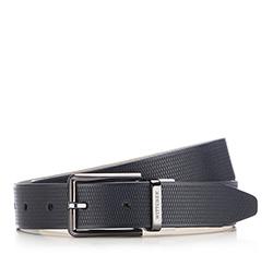 Men's belt, navy blue, 86-8M-323-7-90, Photo 1