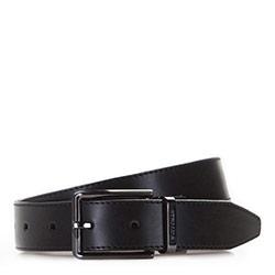 Men's belt, black, 86-8M-324-1-12, Photo 1