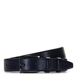 Men's belt, navy blue, 86-8M-325-7-11, Photo 1