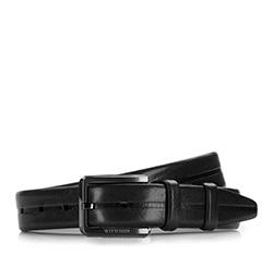 Men's belt, black, 86-8M-327-1-90, Photo 1