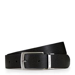 Men's belt, black-grey, 89-8M-306-1-13, Photo 1