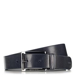 Men's belt, navy blue, 90-8M-306-7-11, Photo 1