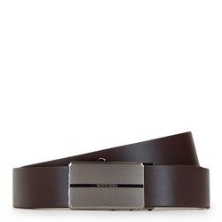 Men's belt with automatic buckle, brown, 91-8M-304-4-90, Photo 1