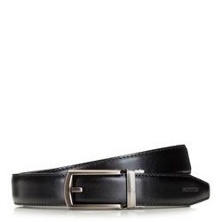 Men's belt with automatic buckle, black, 91-8M-306-1-11, Photo 1