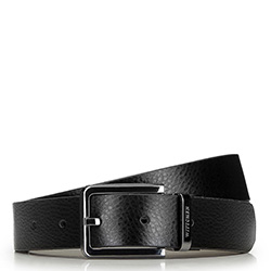 Men's reversible belt, black-brown, 91-8M-310-1-11, Photo 1