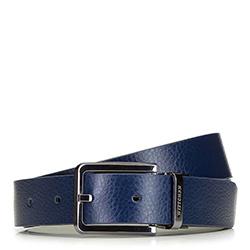 Men's reversible belt, black-navy blue, 91-8M-310-7-10, Photo 1