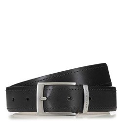 Men's leather belt, black, 91-8M-319-1-90, Photo 1