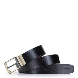 Men's reversible buckle belt, black-brown, 92-8M-354-14-12, Photo 1