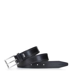 Men's leather belt, black, 92-8M-360-1-10, Photo 1