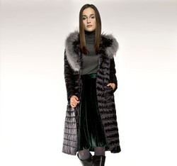 Women's coat, black, 85-9D-305-1-M, Photo 1