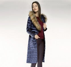 Women's coat, navy blue, 85-9D-305-7-2X, Photo 1