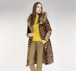 Women's coat, light brown, 85-9D-305-9-L, Photo 1