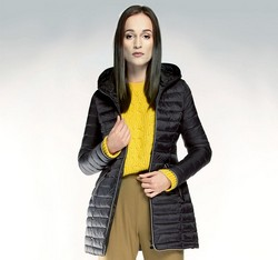 Women's coat, black, 85-9N-100-1-L, Photo 1