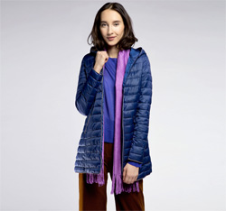 Women's coat, navy blue, 85-9N-100-N-L, Photo 1