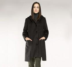 Płaszcz damski, szary, 85-9W-100-8-L, Zdjęcie 1