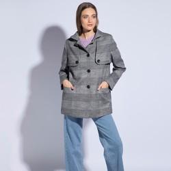Płaszcz damski, szary, 85-9W-102-1-L, Zdjęcie 1