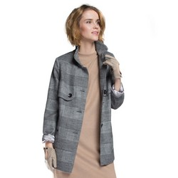 Women's coat, grey, 85-9W-102-1-XL, Photo 1