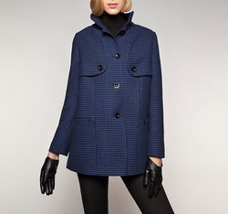 Women's coat, navy blue, 85-9W-102-7-L, Photo 1
