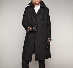 Płaszcz damski, czarny, 85-9W-103-1-M, Zdjęcie 1