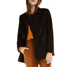Women's coat, black, 85-9W-104-1-L, Photo 1