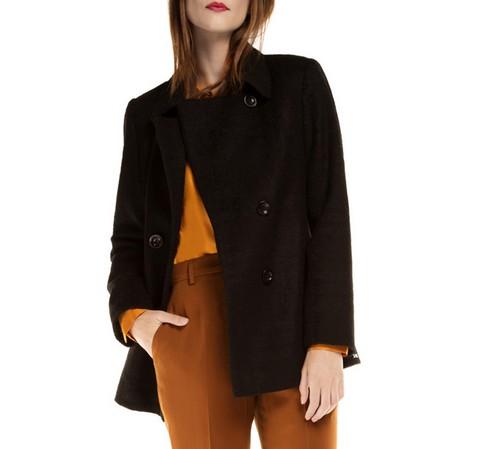 Płaszcz damski, czarny, 85-9W-104-8-2X, Zdjęcie 1