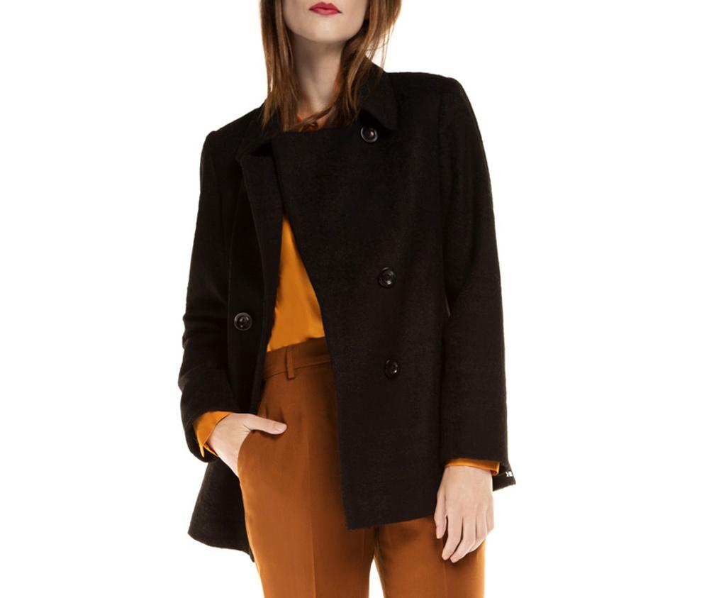 Куртка женскаяПальто женское выполнено из высококачественных материалов с добавлением полиэстера, что предотвращает смятие. Модель пальто с отложным воротником. Пальто имеет 2 открытых внешних кармана.Это отличный выбор, который станет идеальным дополнением классического стиля.<br><br>секс: женщина<br>Размер INT: S<br>материал:: Полиэстер<br>подкладка:: acetat<br>примерная общая длина (см):: 80