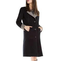 Women's coat, navy blue, 85-9W-105-7-L, Photo 1