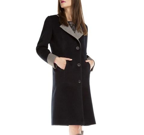 Płaszcz damski, granatowy, 85-9W-105-7-S, Zdjęcie 1