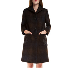 Women's coat, navy blue, 85-9W-107-7-S, Photo 1