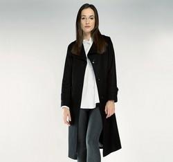 Płaszcz damski, czarny, 85-9W-109-1-2X, Zdjęcie 1