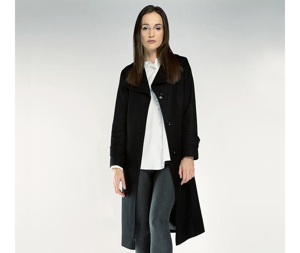 Пальто женское Wittchen 85-9W-109-1, черныйПальто женское<br><br>секс: женщина<br>Цвет: черный<br>Размер INT: S<br>материал:: Шерсть<br>подкладка:: acetat<br>примерная общая длина (см):: 118
