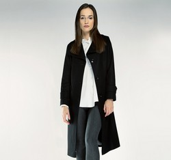 Women's coat, black, 85-9W-109-1-XL, Photo 1