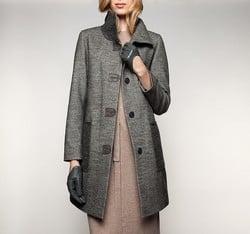 Women's coat, grey, 85-9W-110-8-XL, Photo 1