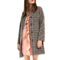 Płaszcz damski, szary, 85-9W-111-8-2X, Zdjęcie 1