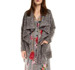 Women's coat, grey, 85-9W-112-8-M, Photo 1