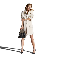 Płaszcz damski, biały, 85-9W-113-0-L, Zdjęcie 1