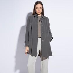 Płaszcz damski, szary, 86-9W-100-8-L, Zdjęcie 1