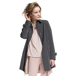 Women's coat, grey, 86-9W-100-8-S, Photo 1