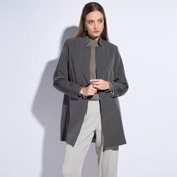 Women's coat, grey, 86-9W-101-8-L, Photo 1