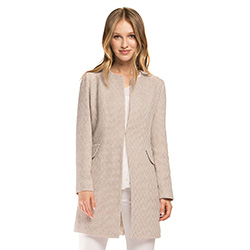 Women's coat, beige, 86-9W-105-P-2XL, Photo 1