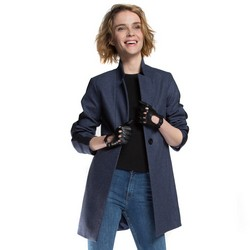 Women's coat, navy blue, 86-9W-111-7-2XL, Photo 1