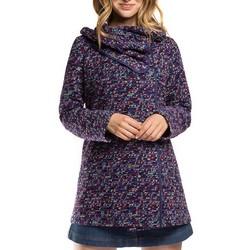 Płaszcz damski, niebiesko - fioletowy, 86-9W-112-7-S, Zdjęcie 1