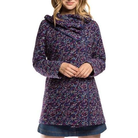 Płaszcz damski, niebiesko - fioletowy, 86-9W-112-7-2XL, Zdjęcie 1