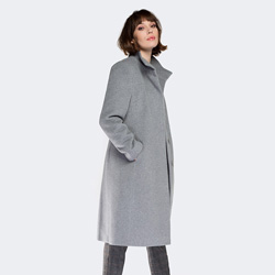 Płaszcz damski, szary, 87-9W-100-8-2X, Zdjęcie 1