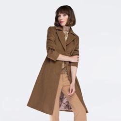 Płaszcz damski, camelowy, 87-9W-101-8-L, Zdjęcie 1