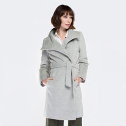 Płaszcz damski, szary, 87-9W-102-8-2X, Zdjęcie 1
